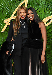 Valerie Morris-Campbell and Naomi Campbell attending the Fashion Awards 2017, in partnership with Swarovski, held at the Royal Albert Hall, London. Picture Credit Should Read: Doug Peters/ EMPICS Entertainment