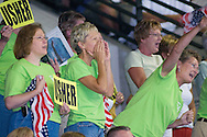 7/2/08 Omaha, NEB.Friends and family cheer on in.Scott Usher swims the 200M Breaststroke during the Olympic Trials in Omaha on Wednesday afternoon..Chris Machian/Grand Island Independent