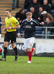 Falkirk's David Weatherston (14) celebrates after scoring their goal..Falkirk 1 v 0 Dunfermline, 16/2/2013..©Michael Schofield.