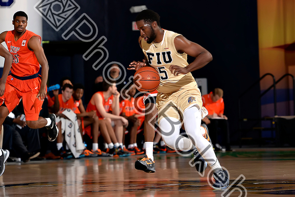 2016 February 11 - FIU's Elmo Stephen (5). <br /> Florida International University fell to UTEP, 74-84, at FIU Arena, Miami, Florida. (Photo by: Alex J. Hernandez / photobokeh.com) This image is copyright by PhotoBokeh.com and may not be reproduced or retransmitted without express written consent of PhotoBokeh.com. ©2016 PhotoBokeh.com - All Rights Reserved
