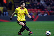 Daryl Janmat of Watford in action. The Emirates FA Cup, 3rd round match, Watford v Bristol City  at Vicarage Road in Watford, London on Saturday 6th January 2018.<br /> pic by Steffan Bowen, Andrew Orchard sports photography.