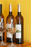 douro doc white and moscatel galego glasses with oak chips quinta do vallado douro portugal