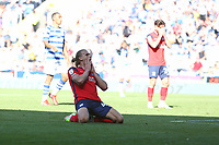 Football - 2021 / 2022 EFL Sky Bet Championship -Reading vs. Preston North End - The Madejski Stadium - Saturday 14th August 2021<br /> <br /> Brad Potts of Preston holds his head in his hands after missing a last minute chance for Preston at The Madejski Stadium <br /> <br /> COLORSPORT/Shaun Boggust