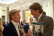 JAMIE EMMERSTON; BEN ELLIOTT,, Luxury Briefing Wealth Summit Conference drinks. Corinthia Hotel. Whitehall, London. 27 October 2011.<br /> <br />  , -DO NOT ARCHIVE-© Copyright Photograph by Dafydd Jones. 248 Clapham Rd. London SW9 0PZ. Tel 0207 820 0771. www.dafjones.com.