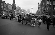 Housewives march in protest at the introduction of Turnover Tax, a new sales tax. <br /> 14.11.1963