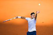 Paris, France. Roland Garros. June 2nd 2013.<br /> Swiss player Roger FEDERER against Gilles SIMON