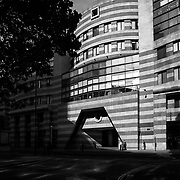 London, UK, 2008: View of No.1 Poultry building, entry to the central court from Queen Victoria street,by James Stirling and Michael Wilford Architects. Photography by Francesca Boaria | Visit SHOP Images to purchase a digital file,  explore other Alejandro Sala images. |  AS • Atelier• Architecture + Photography