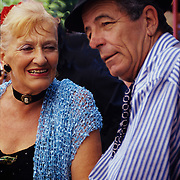 Aging tango dancers in La Boca, Buenos Aires, Agrentina