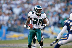 Philadelphia Eagles running back LeSean McCoy #29 carries the ball during the NFL game between the Philadelphia Eagles and the San Diego Chargers on November 15th 2009. At Qualcomm Stadium in San Diego, California. (Photo By Brian Garfinkel)