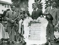 1926 Douglas Fairbanks & Wm. S. Hart at ceremony making Will Rogers honorary mayor of Beverly Hills