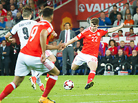 Football - 2017 / 2018 _Wales v Austria_FIFA World Cup Qualifier 2018<br /> <br /> Ben Woodburn of Wales scores his team's first goal--- at Cardiff City Stadium.<br /> <br /> COLORSPORT/WINSTON BYNORTH
