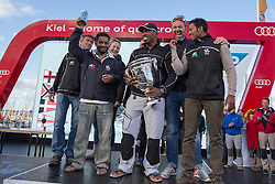 Oman Sail's MOD70 Musandam wins the overall trophy for the combined offshore races during Kiel week 2014, 22-06-2014, Kiel - Germany.