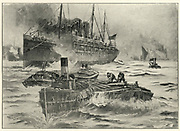 'Troop transport leaving England for the Cape of Good Hope, South Africa, at the outbreak of the 2nd Boer War 1899-1902.'