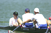 Peter Spurrier Sports  Photo.email pictures@rowingpics.com.Tel 44 (0) 7973 819 551.Tel/Fax 44 (0) 1784 440 772.Photo Peter Spurrier..2nd Rd FISA World Cup Seville. Day 3..GBR M8+ cox Rowley Douglas. 20010515 FISA World Cup, Seville, SPAIN