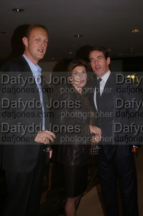 Lord Edward Spencer-Churchill, Tim Jefferies and Marina Palma. 'The Road to Abtsraction' an exhibition of paintings by Rosita Marlborough. the Fleming Collection. 13 Berkeley St. London W1. 31 March 2005. ONE TIME USE ONLY - DO NOT ARCHIVE  © Copyright Photograph by Dafydd Jones 66 Stockwell Park Rd. London SW9 0DA Tel 020 7733 0108 www.dafjones.com