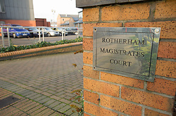 Sign outside Rotherham Magistrates' Court