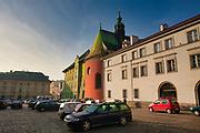 Parking samochodowy na Małym Rynku w Krakowie