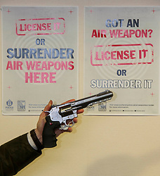 Pictured: <br /> Assistant Chief Constable Mark Williams today unveiled details of the three-week drive along with the designated stations where unwanted weapons can be handed in for secure disposal. <br /> <br /> Ger Harley   EEm 19 May  2016