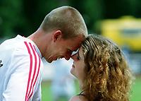 Frank BUSEMANN mit Freundin Katrin ROHDE<br />                      Leichtathletik  Zehnkampf    Deutschland