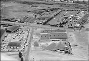 """Ackroyd 02979-1. """"Grinnell Co. aerial. July 2, 1951"""" 5x7"""" NW Portland, Portland Terminal Railroad."""