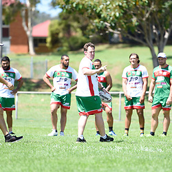 BRISBANE, AUSTRALIA - MARCH 18: Wynnum Manly players train during the NRL Development Junior Clinic and QRL training session at Ron Stark Oval on March 18, 2017 in Brisbane, Australia. (Photo by Patrick Kearney/Wynnum Manly Seagulls)