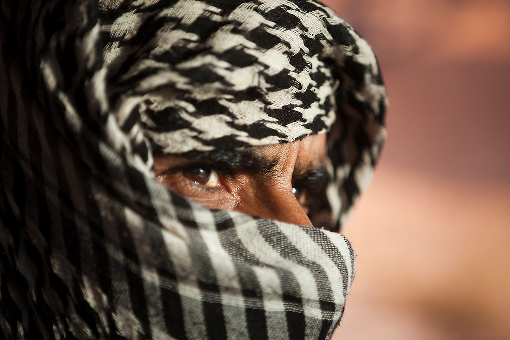 Bedouin guide Etzal Salem in Wadi Rum, Jordan.