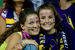 Young Fans of Maribor at Third Round of Champions League qualifications football match between NK Maribor and FC Zurich,  on August 05, 2009, in Ljudski vrt , Maribor, Slovenia. Zurich won 3:0 and qualified to next Round. (Photo by Vid Ponikvar / Sportida)