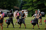 Shadow Drum and Bugle Corps rehearses in Michigan City, Indiana on August 7, 2018. <br /> <br /> Beth Skogen Photography - www.bethskogen.com