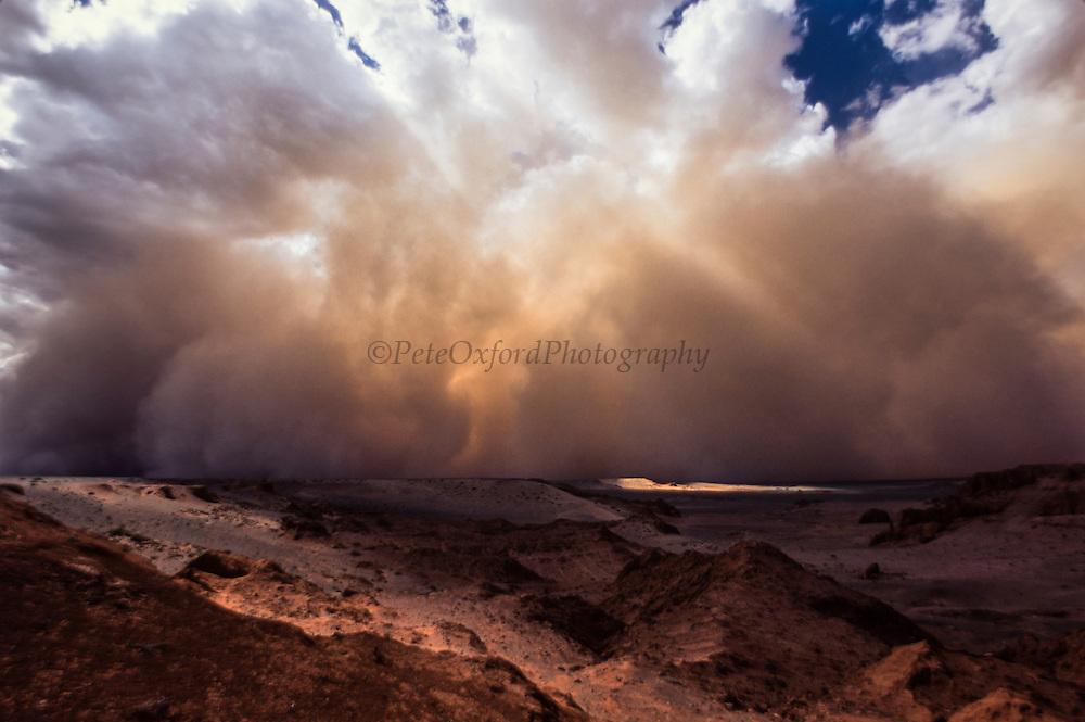 Sand Storm<br /> Gobi Desert<br /> Mongolia