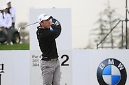 Romain Wattel (FRA) tees off the 2nd tee during Saturay's Round 3 of the 2014 BMW Masters held at Lake Malaren, Shanghai, China. 1st November 2014.<br /> Picture: Eoin Clarke www.golffile.ie