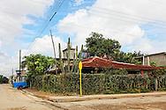 House and street in Ciego de Avila, Cuba.