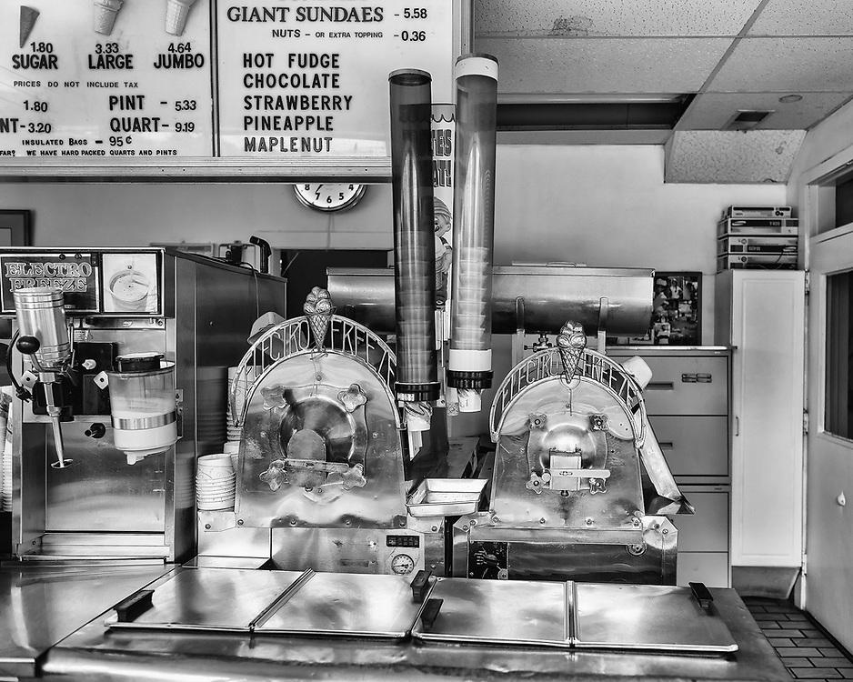 Where the magic happens at Carl's Ice Cream in Fredericksburg, VA.