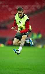 05.09.2011, Wembley Stadium, London, ENG, UEFA Euro 2012, Qualifier, England v Wales, Training, im Bild Wales' captain Aaron Ramsey during a training session at Wembley Stadium ahead of the UEFA Euro 2012 Qualifying Group G match against England, EXPA Pictures © 2011, PhotoCredit: EXPA/ Propaganda/ *** ATTENTION *** UK OUT!
