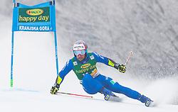 Luca De Aliprandin of Italy during 1st run of Men's Giant Slalom race of FIS Alpine Ski World Cup 57th Vitranc Cup 2018, on 3.3.2018 in Podkoren, Kranjska gora, Slovenia. Photo by Urban Meglič / Sportida