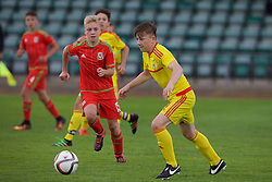 NEWPORT, WALES - Thursday, August 4, 2016: North Wales Academy Boys' Kian Owen during the Welsh Football Trust Cymru Cup 2016 at Newport Stadium. (Pic by Paul Greenwood/Propaganda)