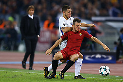 October 31, 2017 - Rome, Italy - Eden Hazard of Chelsea and Alessandro Florenzi of Roma  during the UEFA Champions League football match AS Roma vs Chelsea on October 31, 2017 at the Olympic Stadium in Rome. (Credit Image: © Matteo Ciambelli/NurPhoto via ZUMA Press)