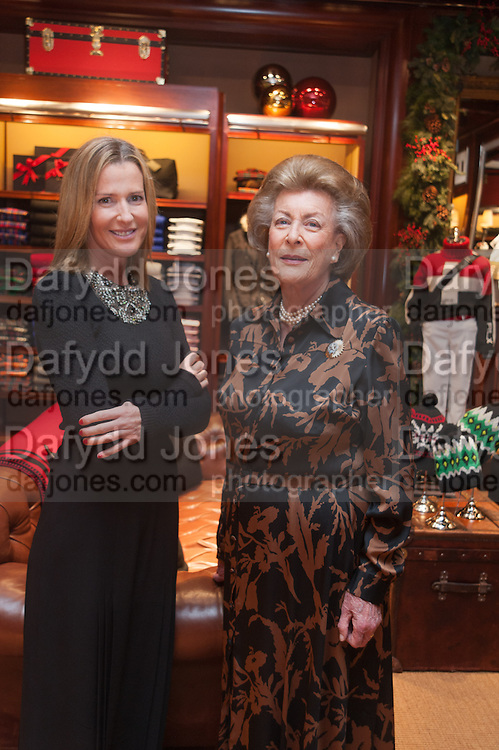 INDIA HICKS; LADY PAMELA HICKS, Book launch for ' Daughter of Empire - Life as a Mountbatten' by Lady Pamela Hicks. Ralph Lauren, 1 New Bond St. London. 12 November 2012.