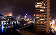 New Years Eve fire works, Melbourne, Australia from Dockland apartment<br /> <br /> Image protected by copyright.  For usage rights  Contact EFFECTIVE WORKING IMAGE<br /> via our contact page at :<br /> <br /> www.effectiveworkingimage.com