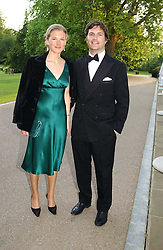 TOM & DAVINA BARBER she was Davina Duckworth-Chad, a friend of Prince William's at the Game Conservancy Jubilee Ball in aid of the Game Conservancy Trust held at The Hurlingham Club, London SW6 on 26th May 2005<br />