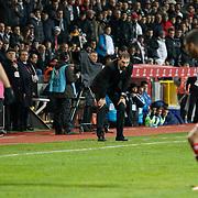 Besiktas's coach Slaven Bilic during their Turkish Super League soccer match Istanbul Besiktas between Kasimpasa at the Basaksehir Fatih Terim Arena at Basaksehir in Istanbul Turkey on Sunday, 23 November 2014. Photo by Aykut AKICI/TURKPIX
