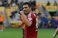 Middlesbrough midfielder Stewart Downing celebrates third goal during the Sky Bet Championship match between Wolverhampton Wanderers and Middlesbrough at Molineux, Wolverhampton, England on 24 October 2015. Photo by Alan Franklin.