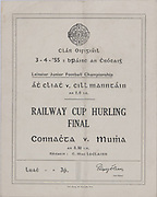Interprovincial Railway Cup Hurling Cup Final