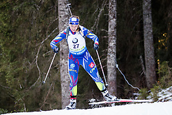 Anais Bescond (FRA) competes during Women 10 km Pursuit at day 3 of IBU Biathlon World Cup 2015/16 Pokljuka, on December 19, 2015 in Rudno polje, Pokljuka, Slovenia. Photo by Ziga Zupan / Sportida