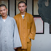 Monks in North Pagoda monastery in Suzhou (Suzhou, China - Sep. 2008) (Image ID: 080926-1132441a)