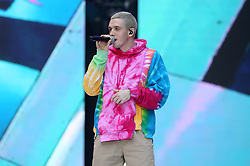 Lauv on stage during Capital's Summertime Ball. The world's biggest stars perform live for 80,000 Capital listeners at Wembley Stadium at the UK's biggest summer party.