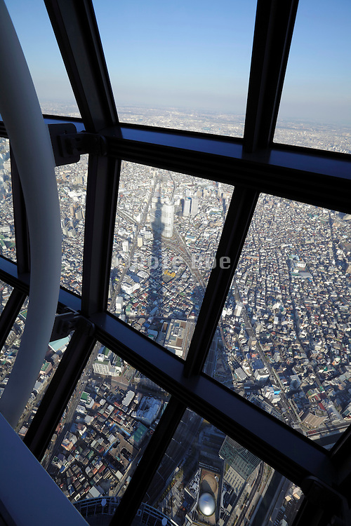 Skytree Tower Tokyo view from Tembo Galleria at floor 445-450