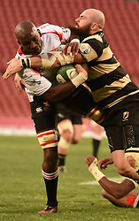 Victor Sekekete during the Currie Cup premier division match between the The Lions and the Boland Cavaliers held at the Emirates Airline Park (Ellis Park), Johannesburg, South Africa on the 26th August 2016<br /> <br /> Photo by:   Real Time Images