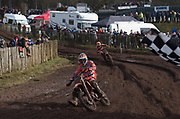 Jeffrey Herlings and Glen Coldenhoff stayed close until the finish. Herlings was not noticeably faster than Coldenhoff anywhere, but simply refused his team mate any wins.