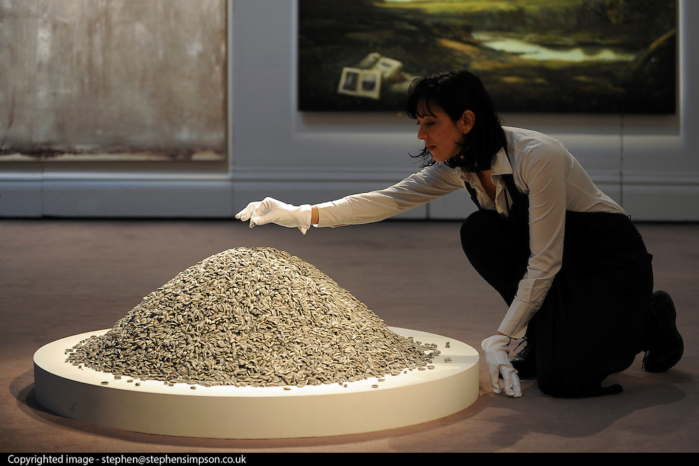 ©London News pictures...31.01.2011. Ai Weiwei's 'Sunflower Seeds' are expected to fetch 80-120 thousand pounds. Highlights of upcoming Sotheby's sales of impressionist and modern art and contemporary art. Works on show include a Picasso portrait of his mistress and muse Marie-Therese, from 1932 which is estimated to fetch £12 to £18 million, a private commission by Marc Chagall - never before seen on the market - estimated to fetch in excess of £10m and a Hockney painting estimated at £1 to £1.5m. . Picture Credit should read Stephen Simpson/LNP