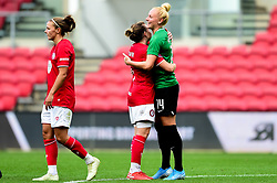 Loren Dykes of Bristol City shakes hands with Danique Kerkdijk of Brighton and Hove Albion Women - Mandatory by-line: Ryan Hiscott/JMP - 07/09/2019 - FOOTBALL - Ashton Gate - Bristol, England - Bristol City Women v Brighton and Hove Albion Women - FA Women's Super League